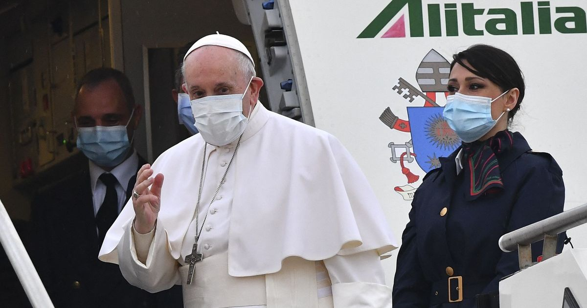 Pope Francis arrives in Iraq for first time despite terrorism and Covid fears