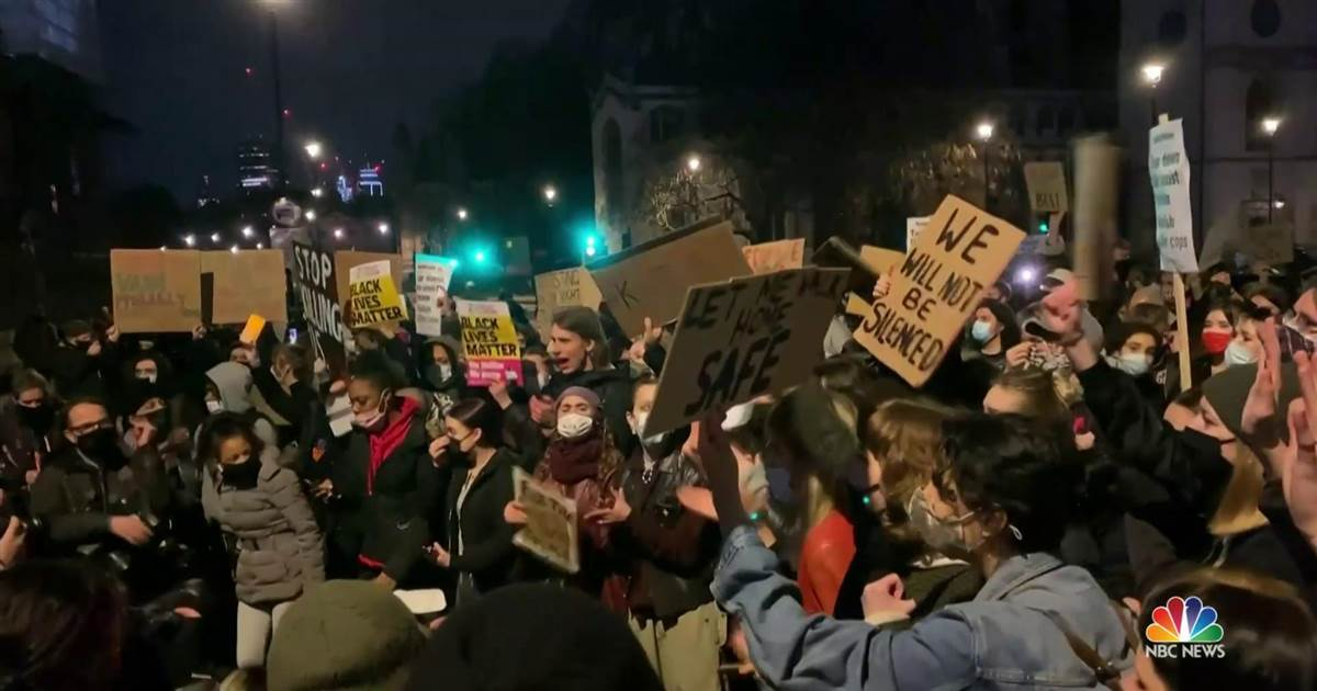Protests in London after murder of Sarah Everard