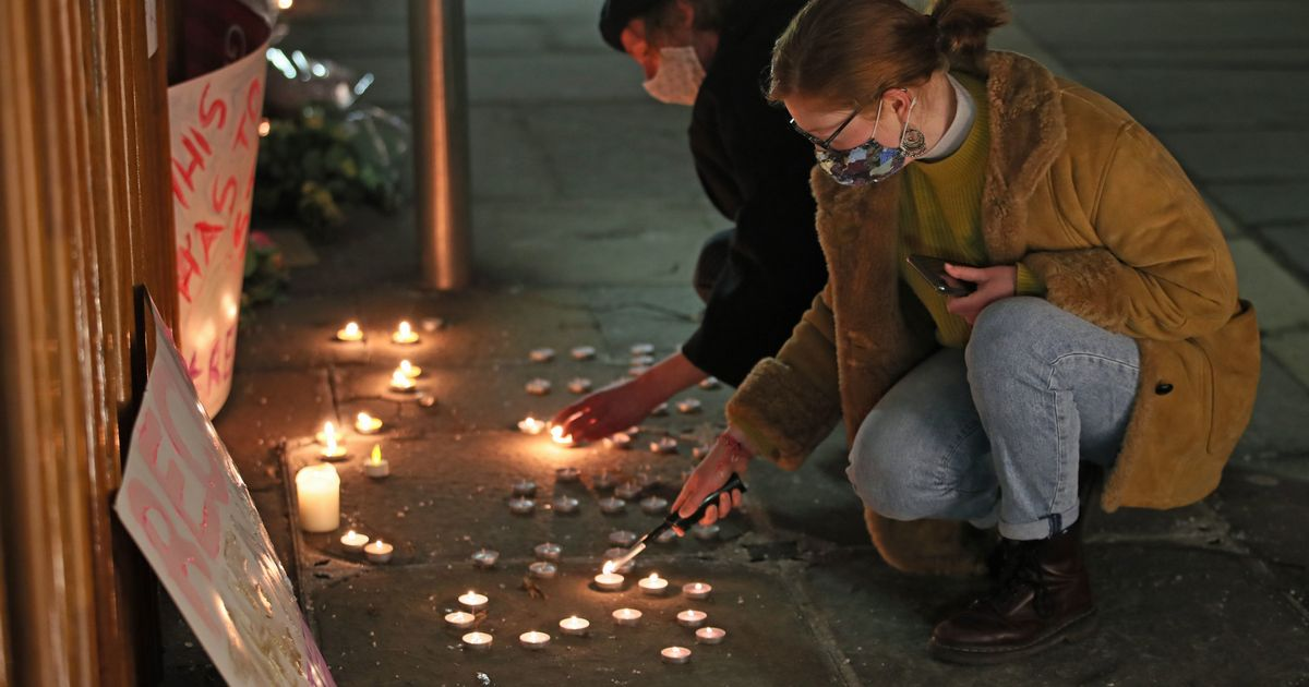 Richard E Grant and Sheridan Smith take part in Sarah Everard vigil