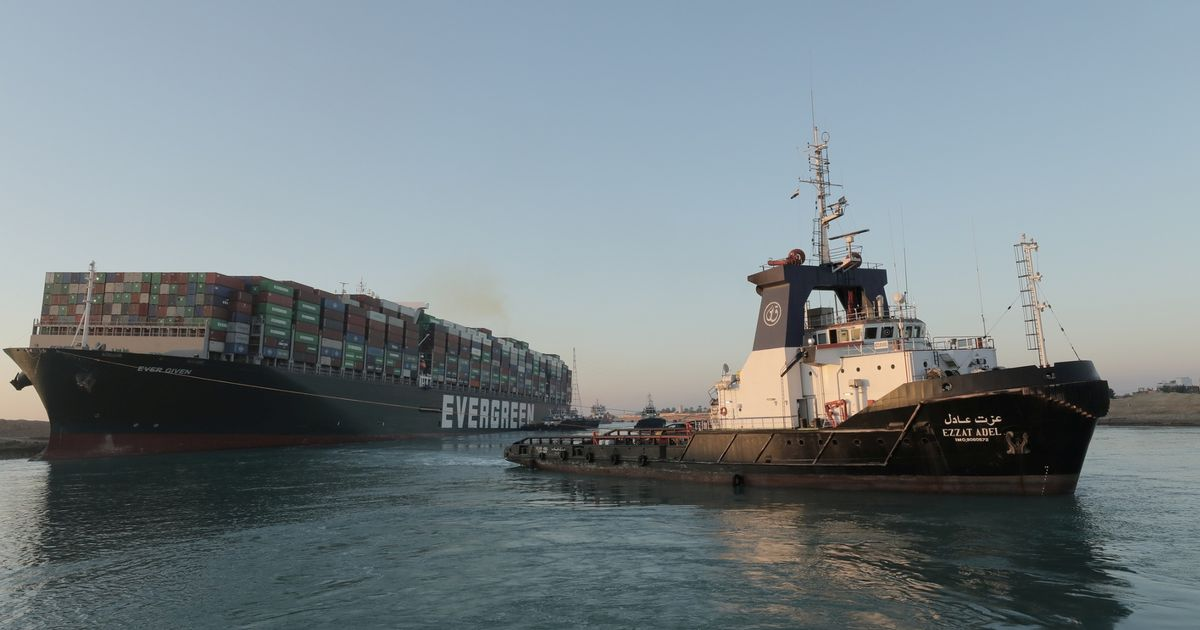 Suez Canal is clear as massive container ship finally refloated and set free