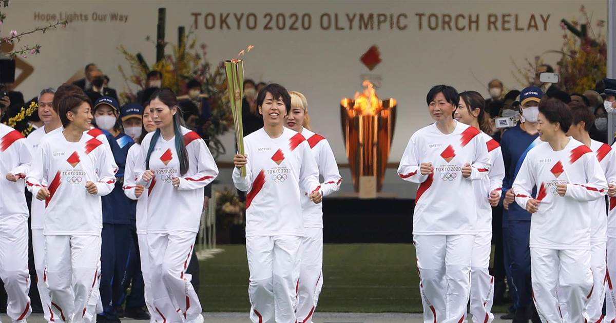 Tokyo Olympics torch relay gets underway amid coronavirus restrictions