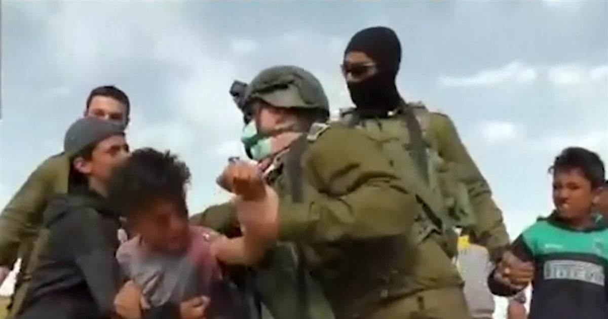 Video shows Palestinian boys being detained by Israeli military
