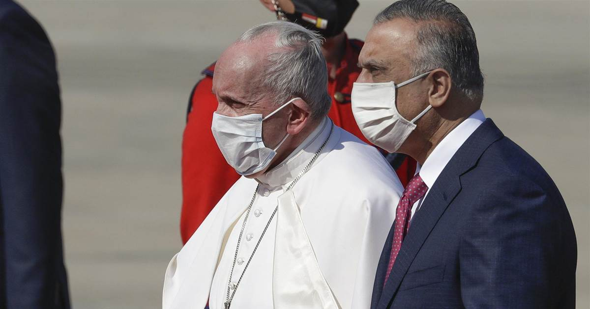 Watch: Pope Francis arrives in Baghdad at start of four-day visit