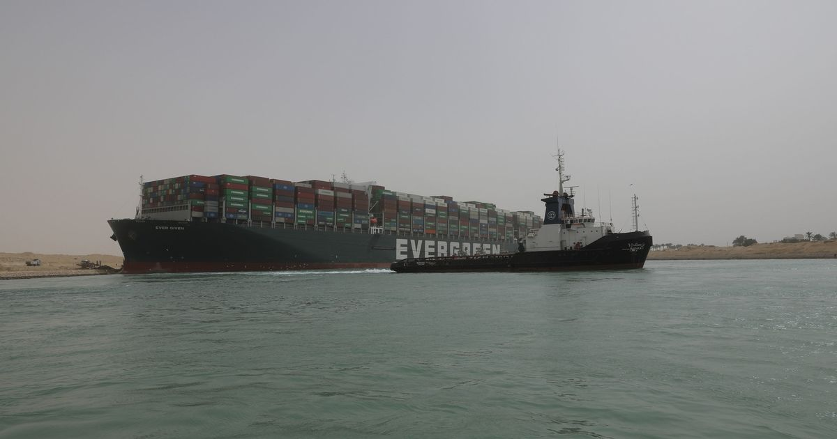 What the ship wedged in the Suez Canal means for global trade