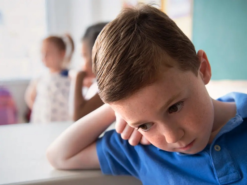 Depression in children due to lack of attention