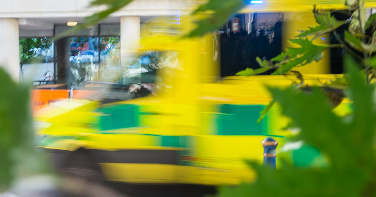 Ambulance worker dies after object hits vehicle's windscreen