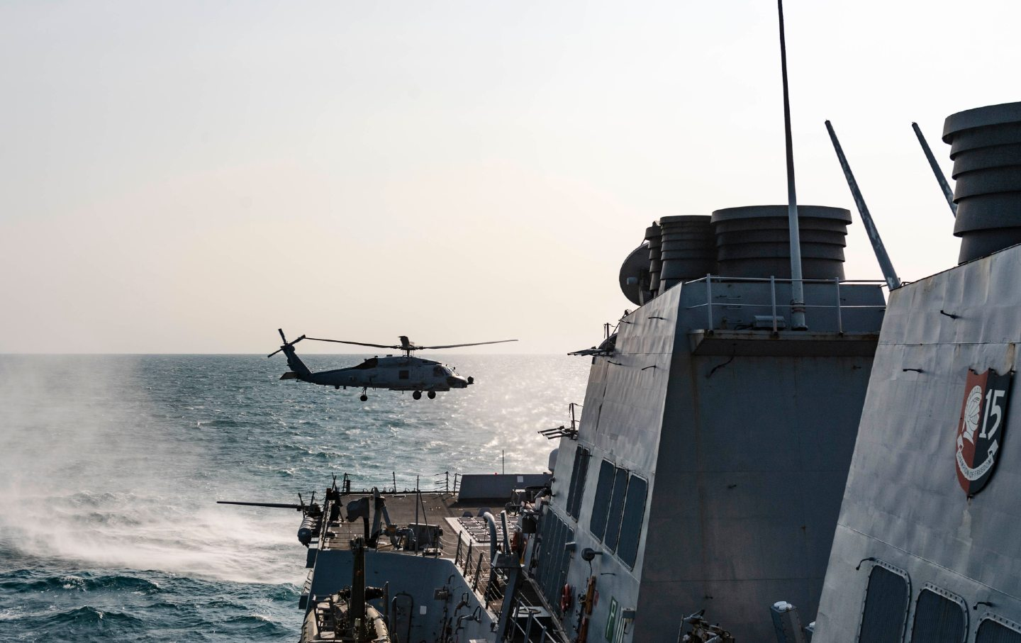 Taiwan Strait Helicopter