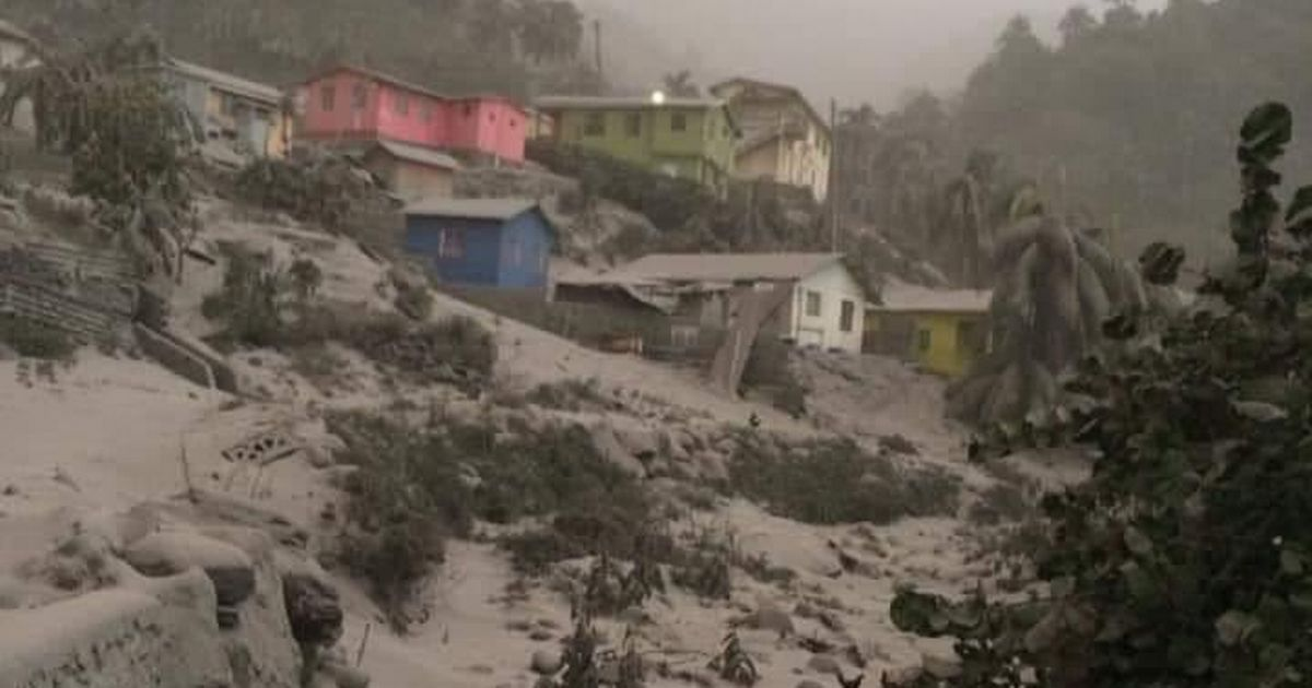Ash falls like snow on Caribbean island after massive volcano eruption