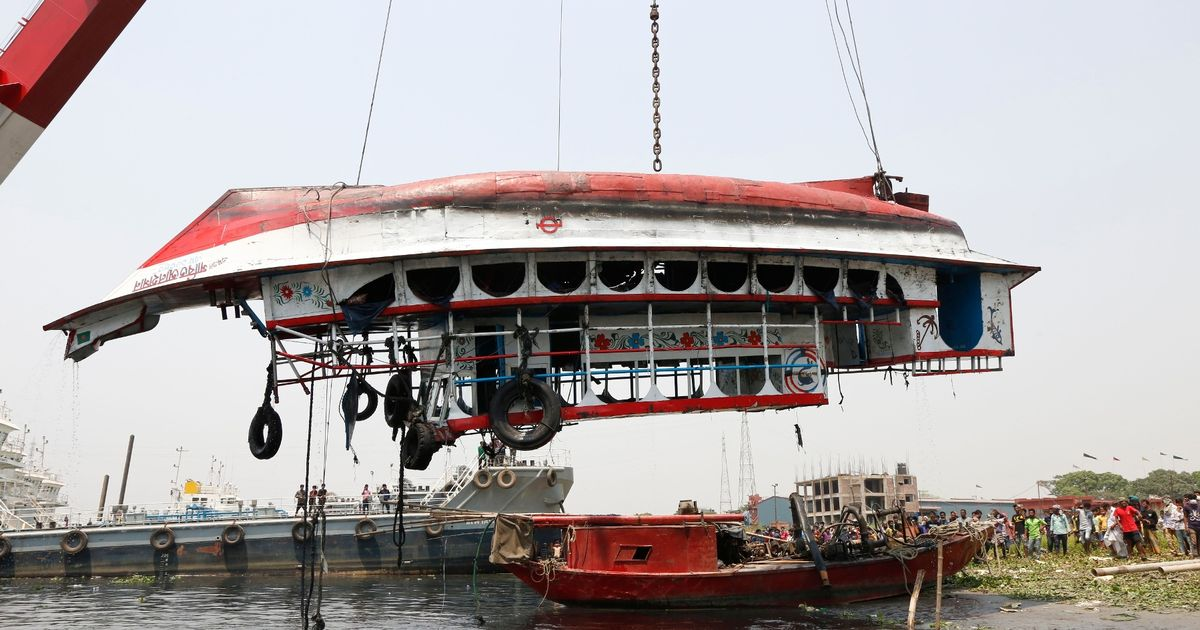 At least 26 dead in ferry disaster after vessel collides with cargo ship