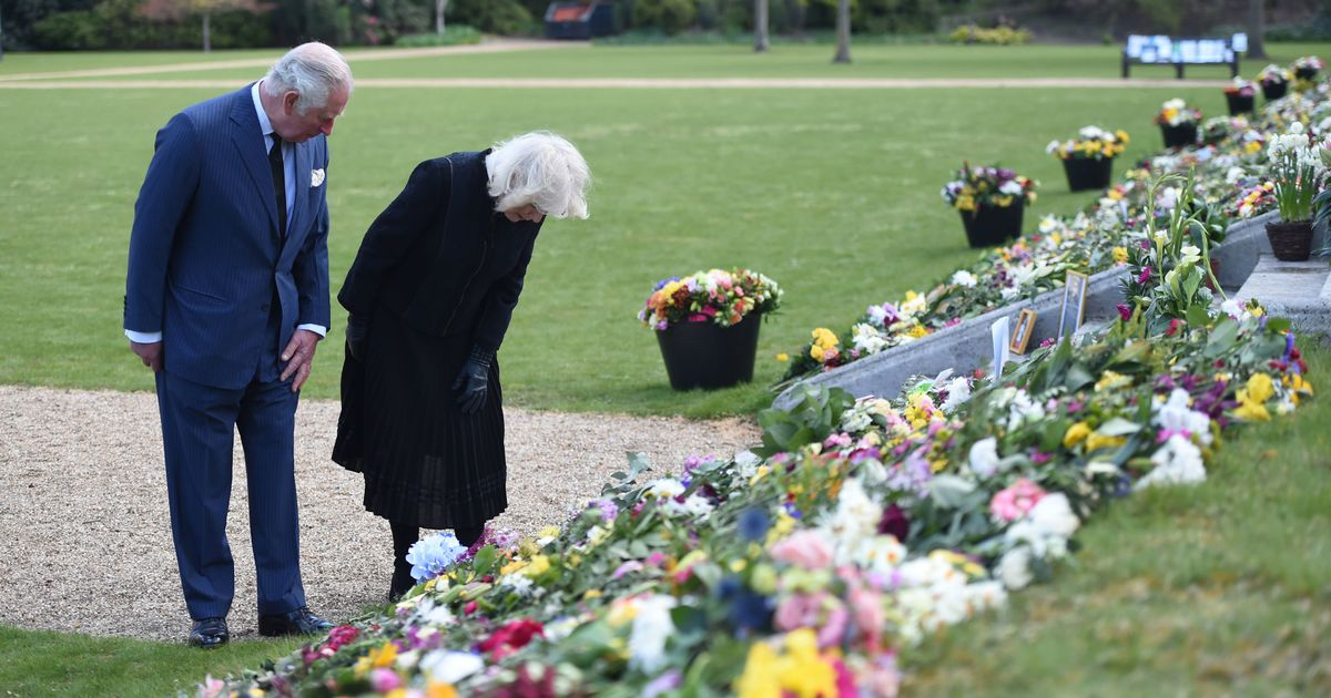 Charles and Camilla moved by floral tribute messages