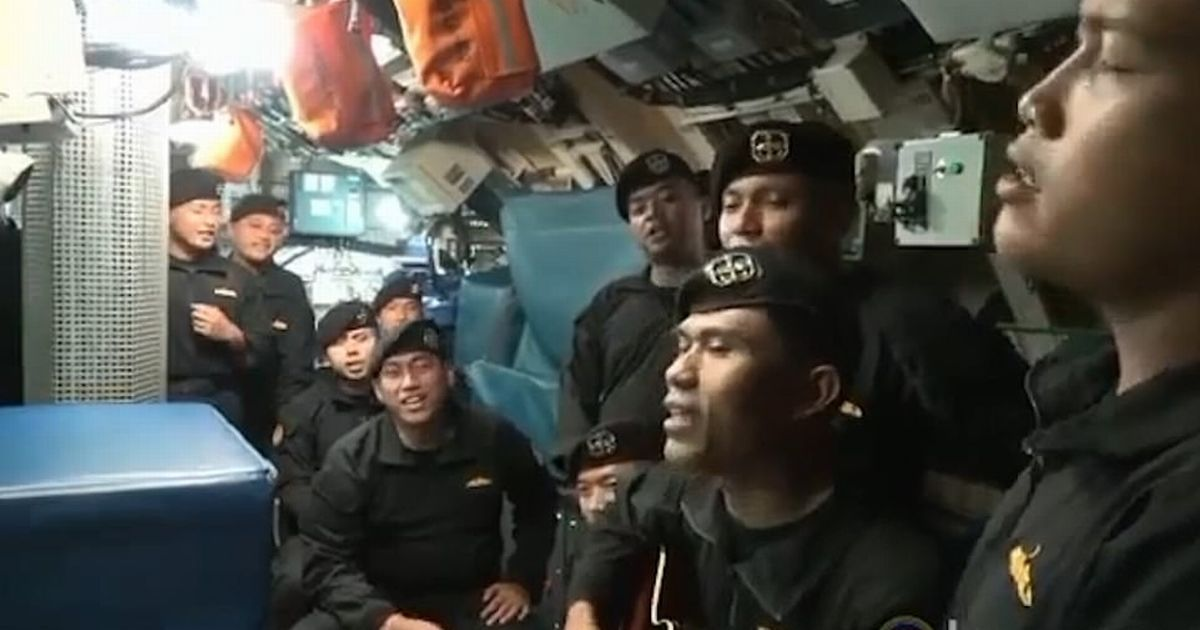 Chilling video on doomed submarine shows crew sing 'Goodbye' before all 53 died