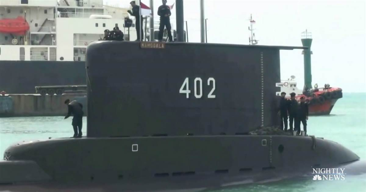 Desperate search for missing Indonesian submarine running low on oxygen