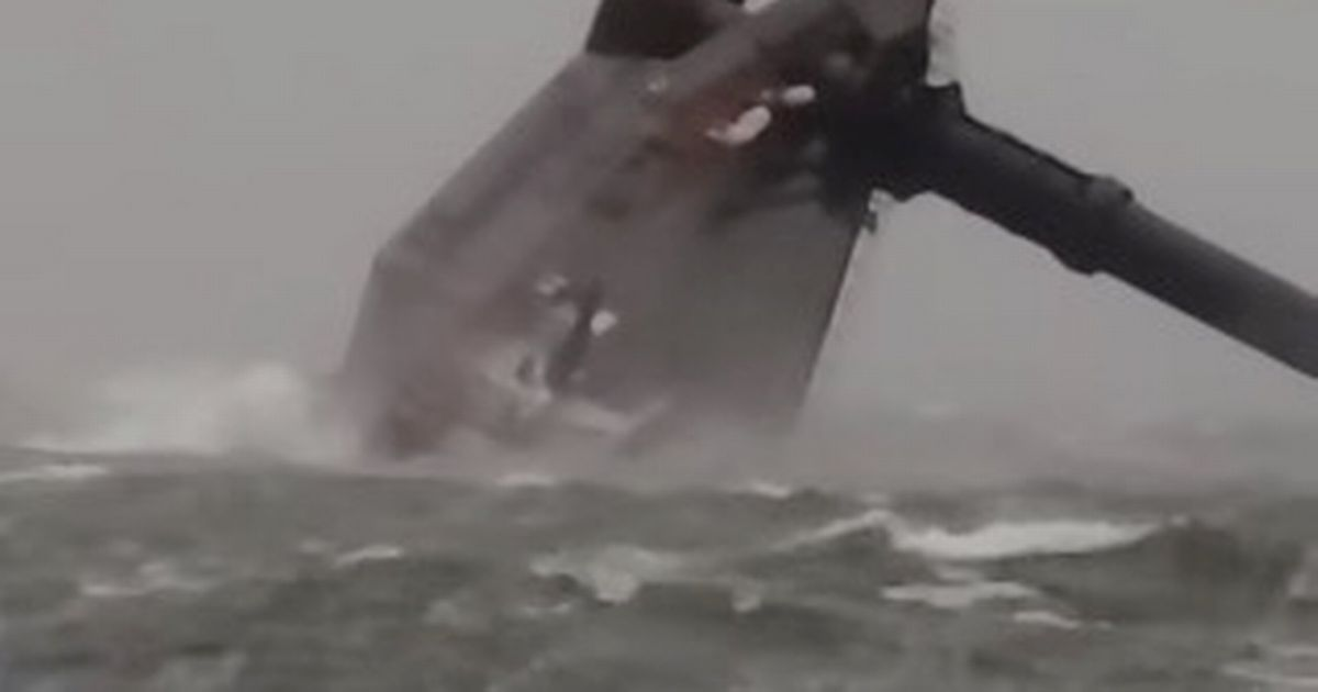 Frantic hunt launched as boat carrying passengers capsizes in 75mph storm