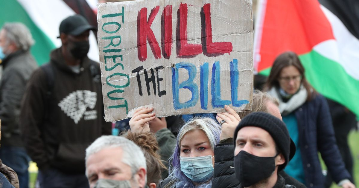 Hundreds attend 'Kill the Bill' protests held across England