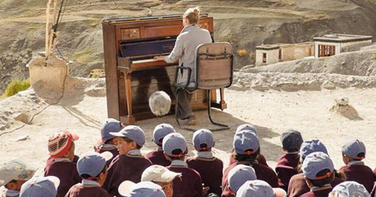 Man takes piano 13,000ft up Himalayan mountain so kids could hear Mozart
