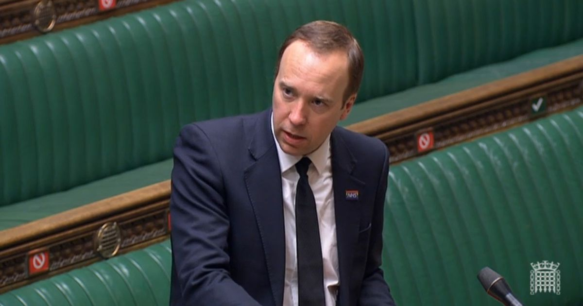 Matt Hancock followed rules over link between company and NHS - minister