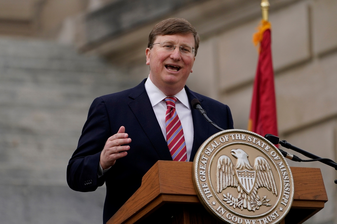 Mississippi governor 'hopeful' constituents will overcome hesitancy on vaccines