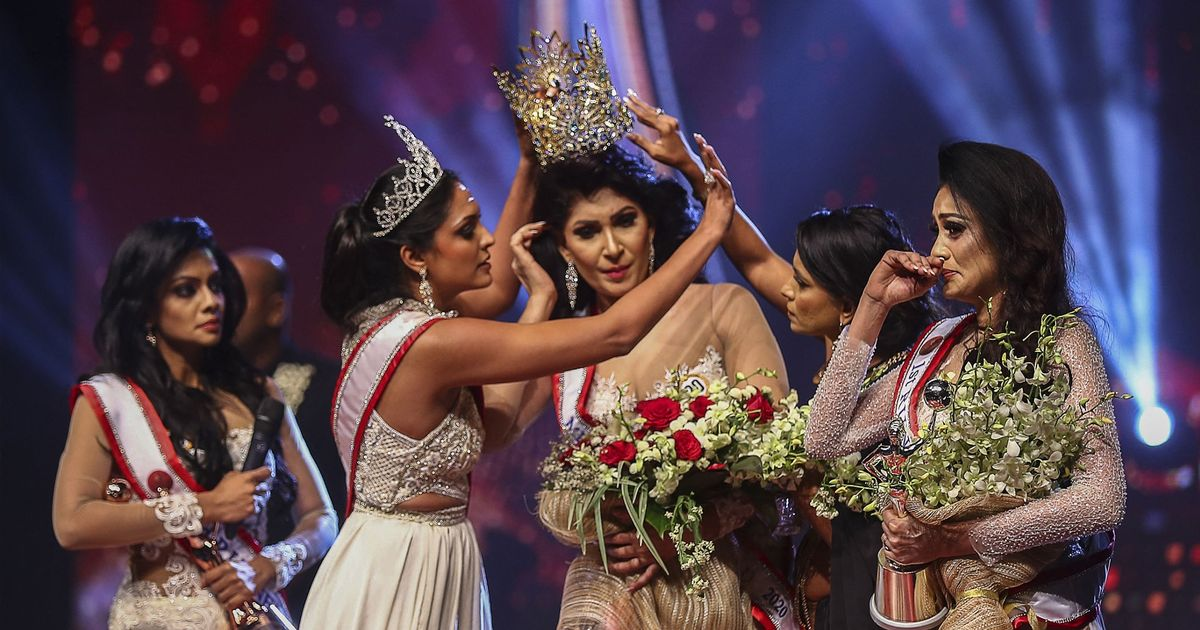 Mrs Sri Lanka winner injured on stage as rival steals tiara and crowns runner up