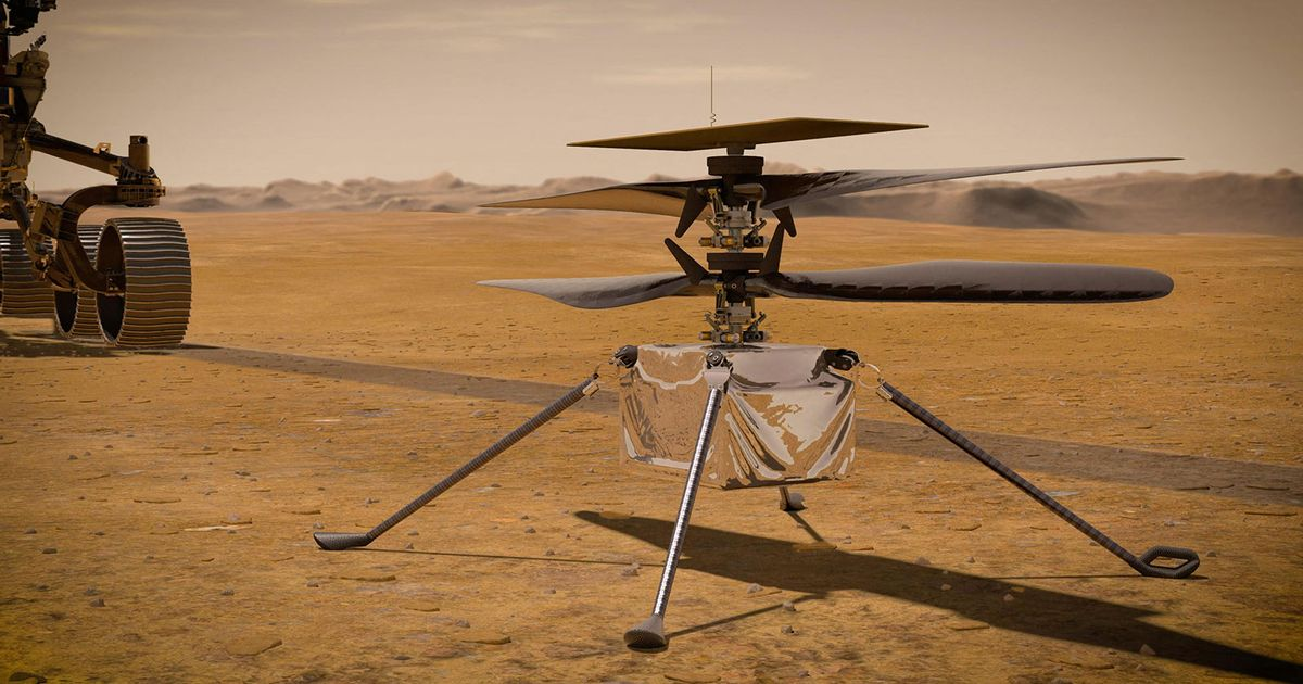NASA Ingenuity helicopter completes first ever controlled flight on Mars