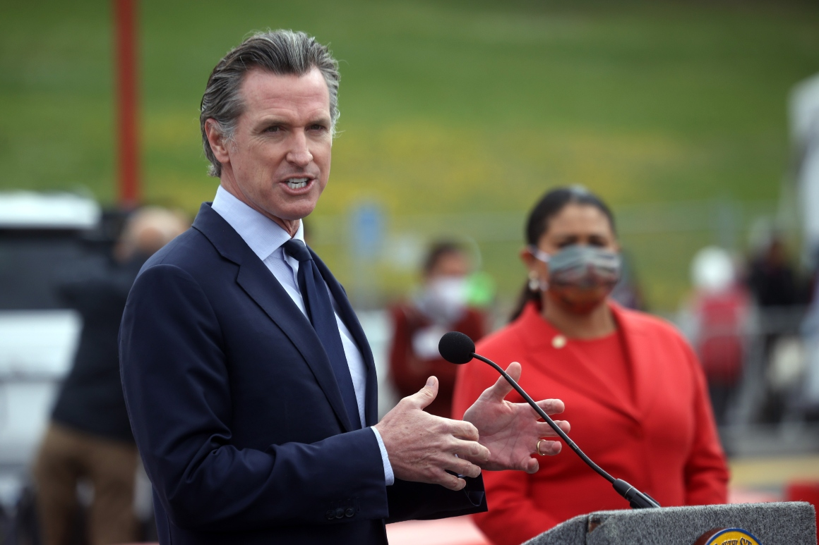Newsom adviser spars with California recall leader in first campaign preview