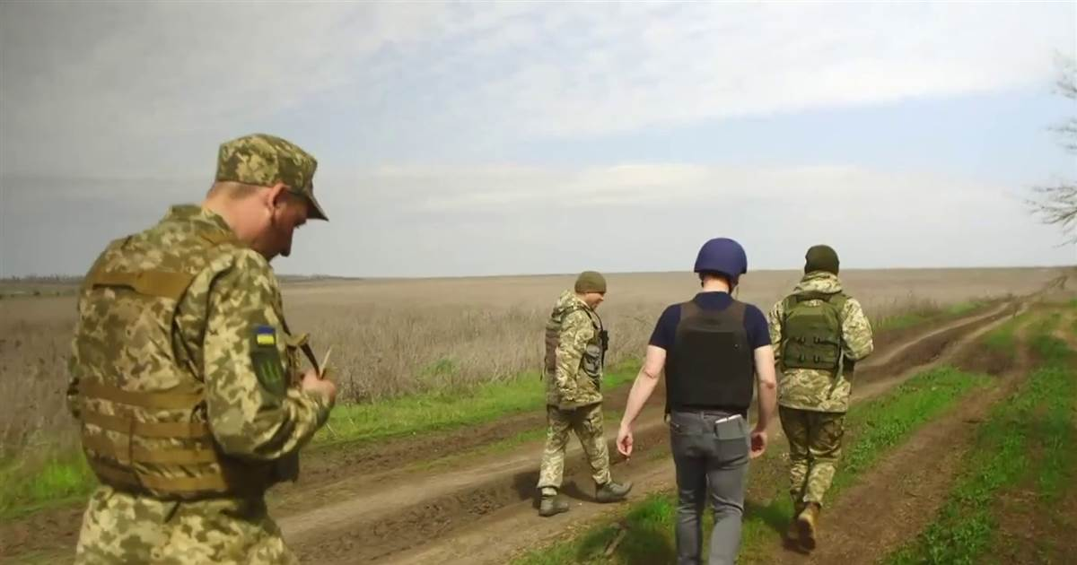 On the front lines in Ukraine as Russia tests Biden's foreign policy