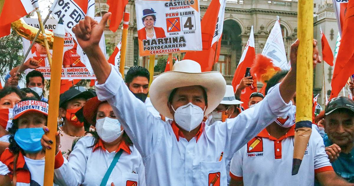 Peru election heads for a run-off as far-left candidate Pedro Castillo leads