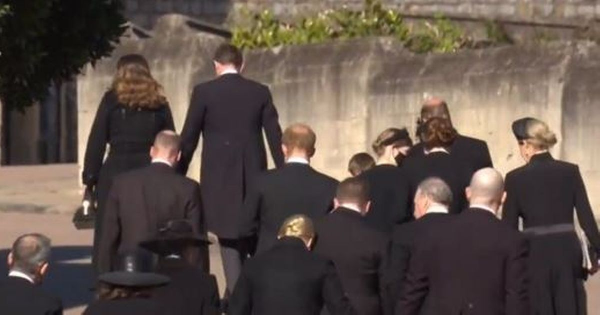 Prince Harry and William leave grandfather's funeral side-by-side