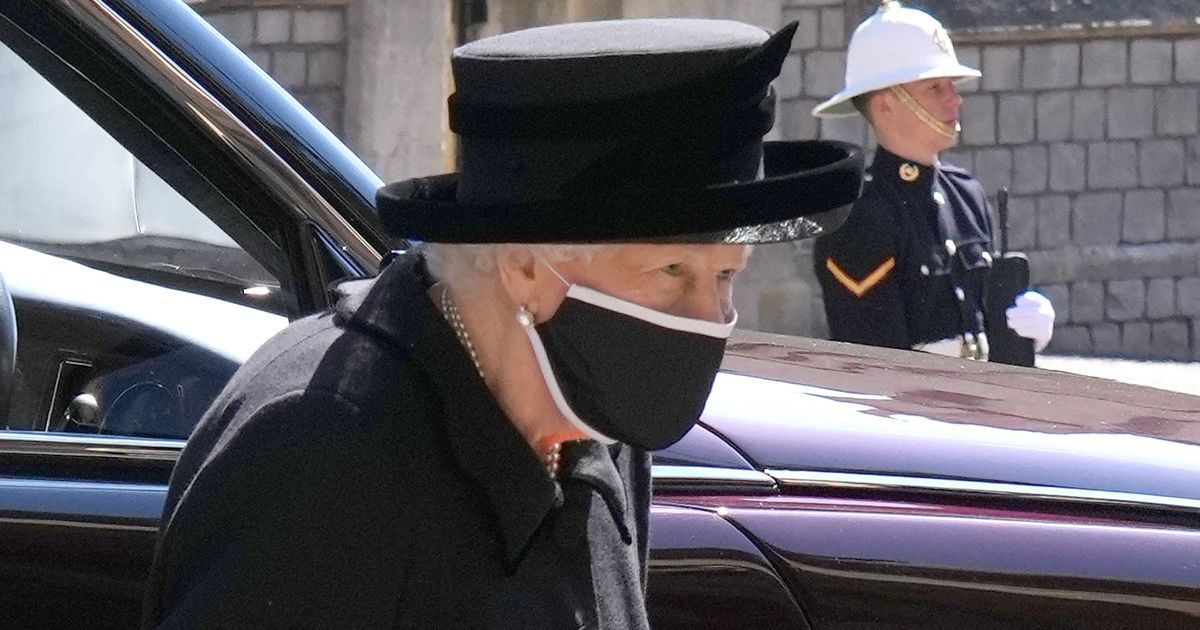 Queen pictured for first time since Prince Philip's death, at his funeral
