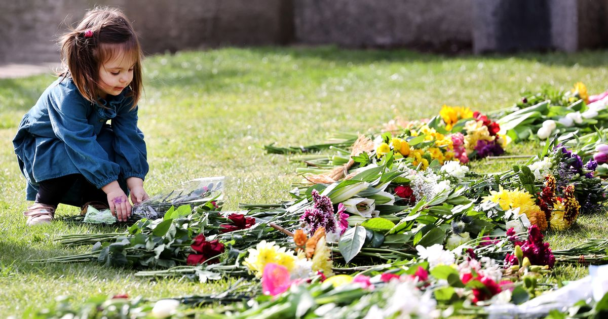 Scores of flowers laid in London and Windsor in memory of Prince Philip