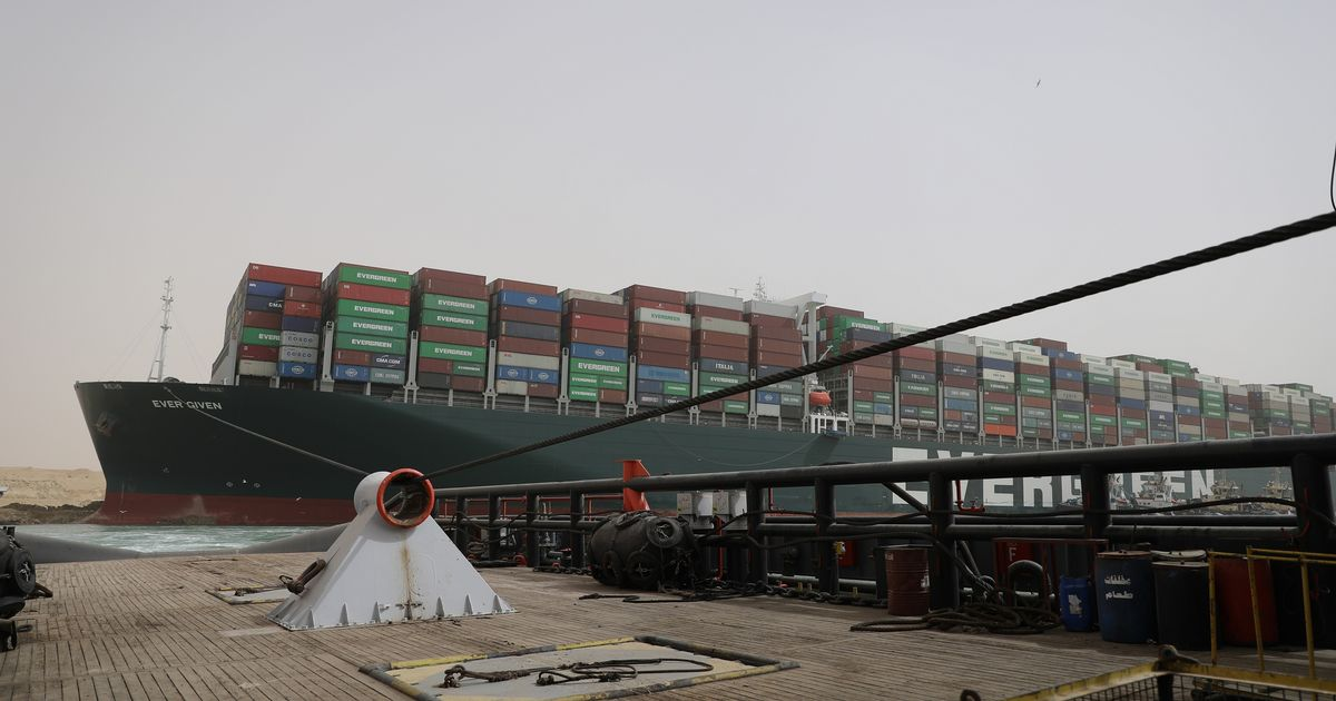 Ship which blocked Suez Canal impounded until $900million paid