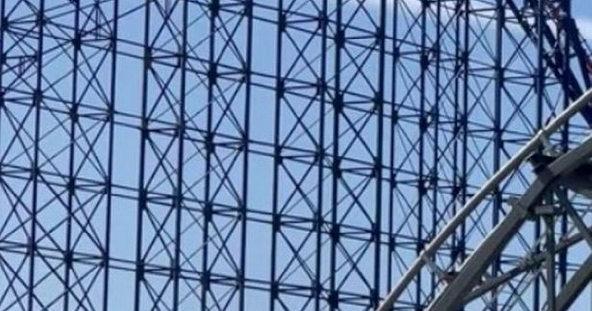 Thrillseekers on rollercoaster get stuck at top - and have to walk down