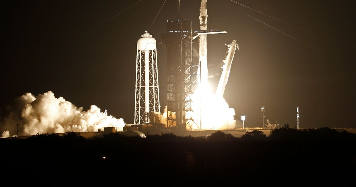 Watch live as SpaceX rocket blasts off on International Space Station mission