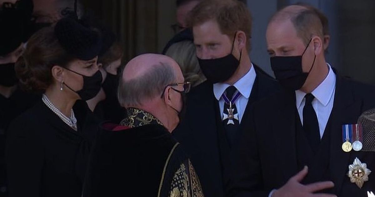 What Prince William and Prince Harry said after the funeral