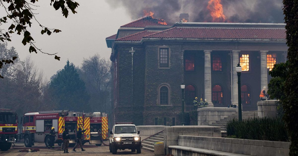 Wildfire in South Africa spreads to university campus with students evacuated