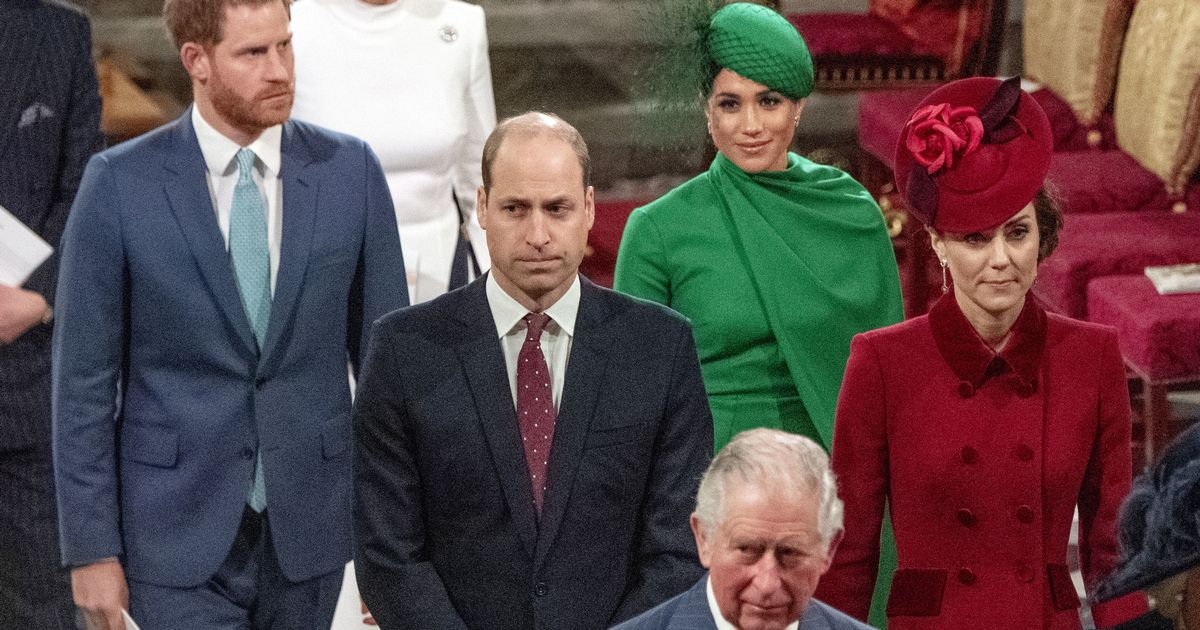 William and Harry will be separated in funeral procession