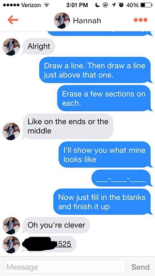 Pick Up Lines to get a number