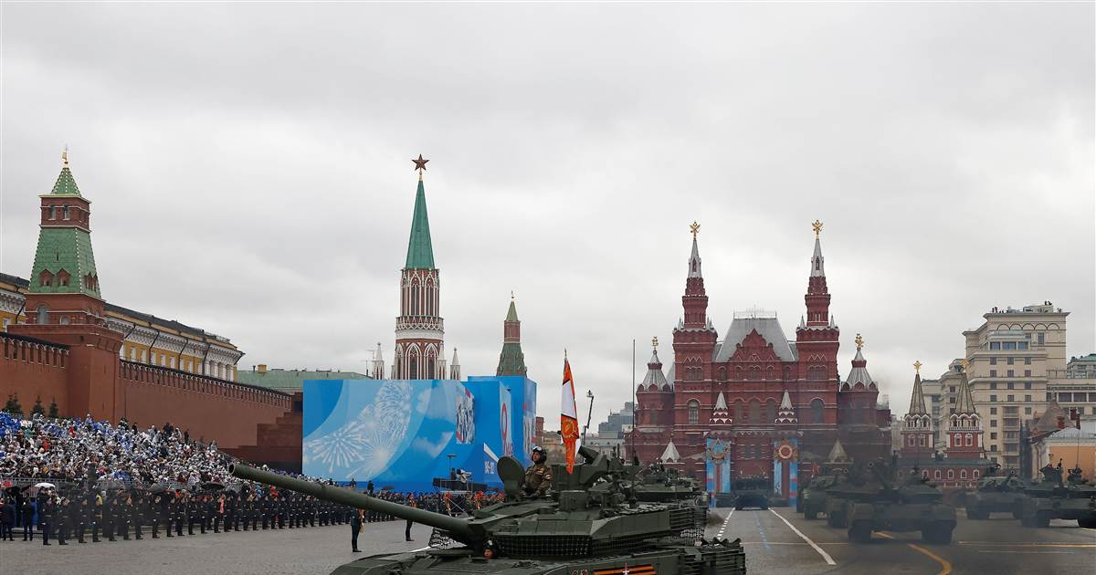 Putin reviews Russia's military might on 'Victory Day' amid tensions with West