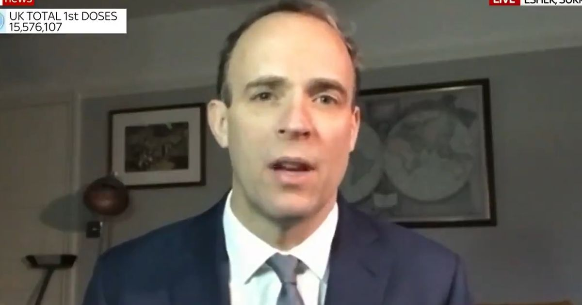 Raab won't speculate on PM resignation or law breaking probe