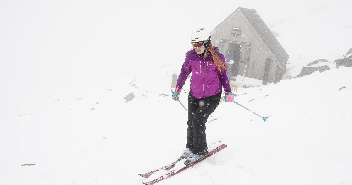 Warmer weather coming after snow  sees skiing in May