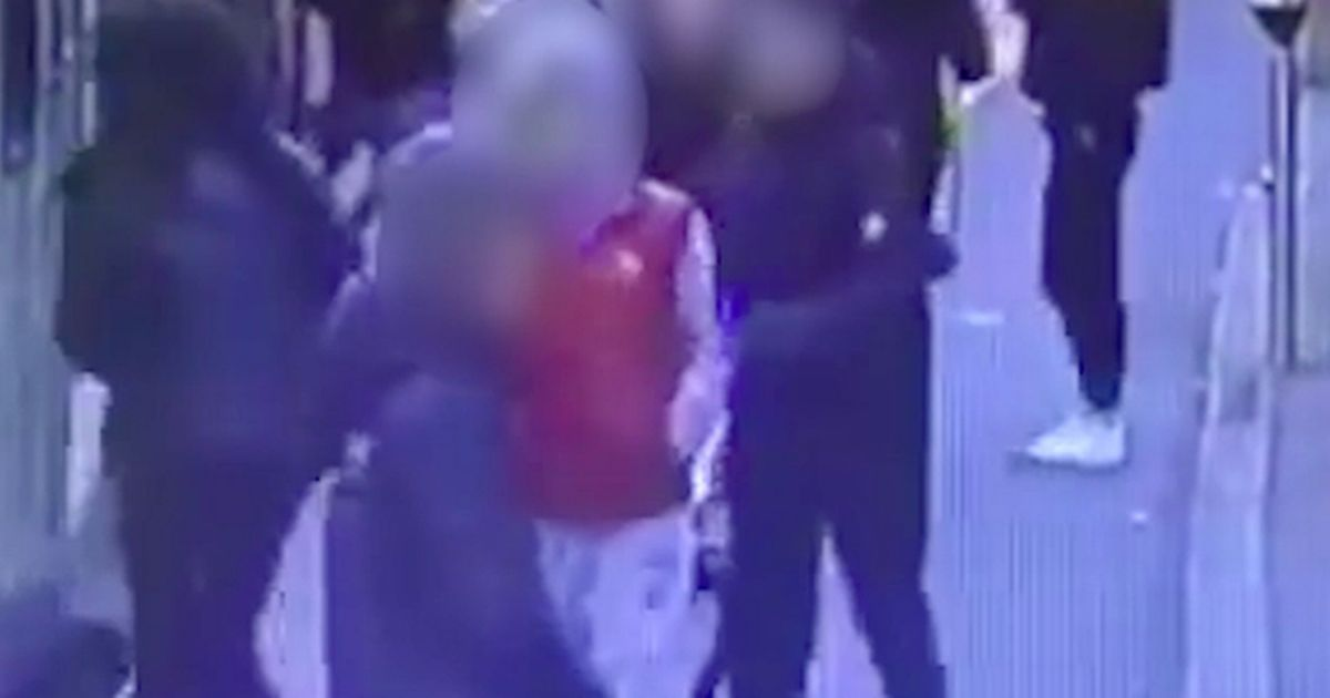 Woman knocked under train in sickening attack by teens in front of passengers