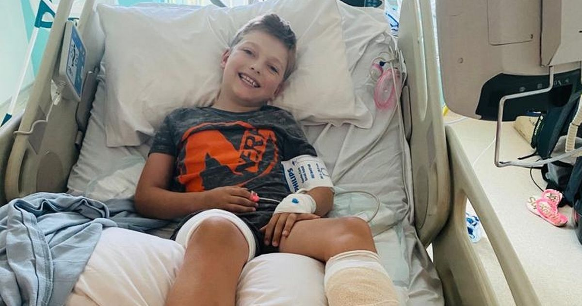 Beach BBQ accident left young boy's foot look like 'melted wax'