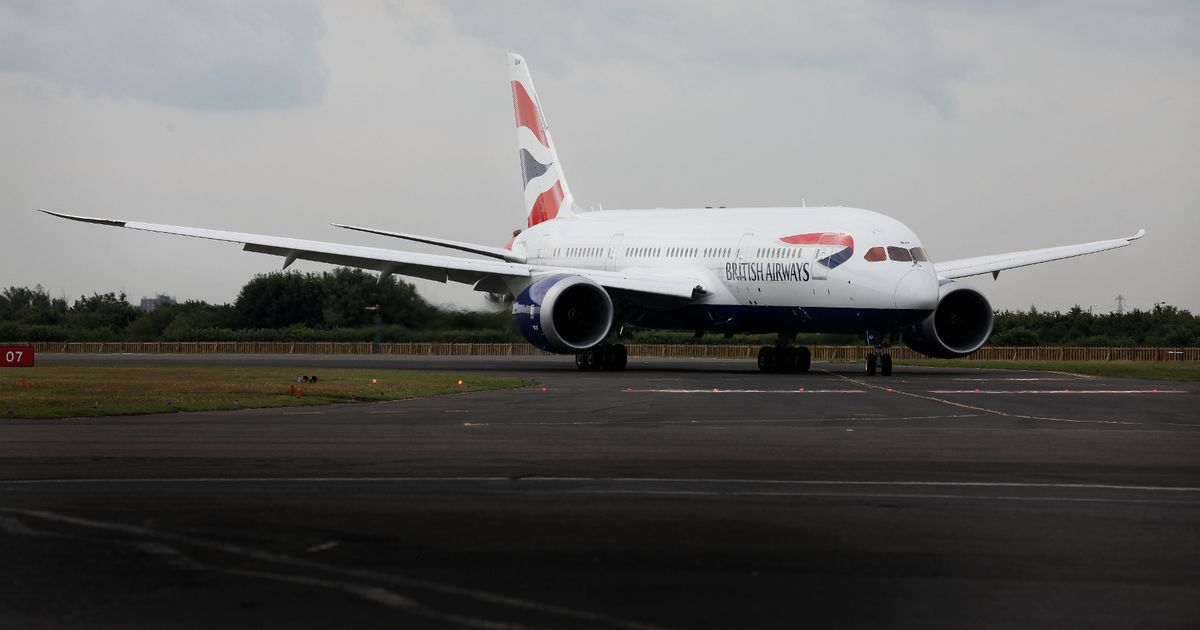 British Airways jet's nose gear collapses while parked at Heathrow Airport