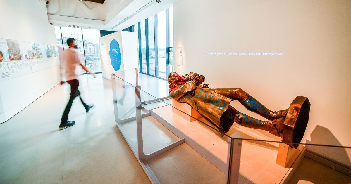 Edward Colston: Toppled slave trader statue goes on public display