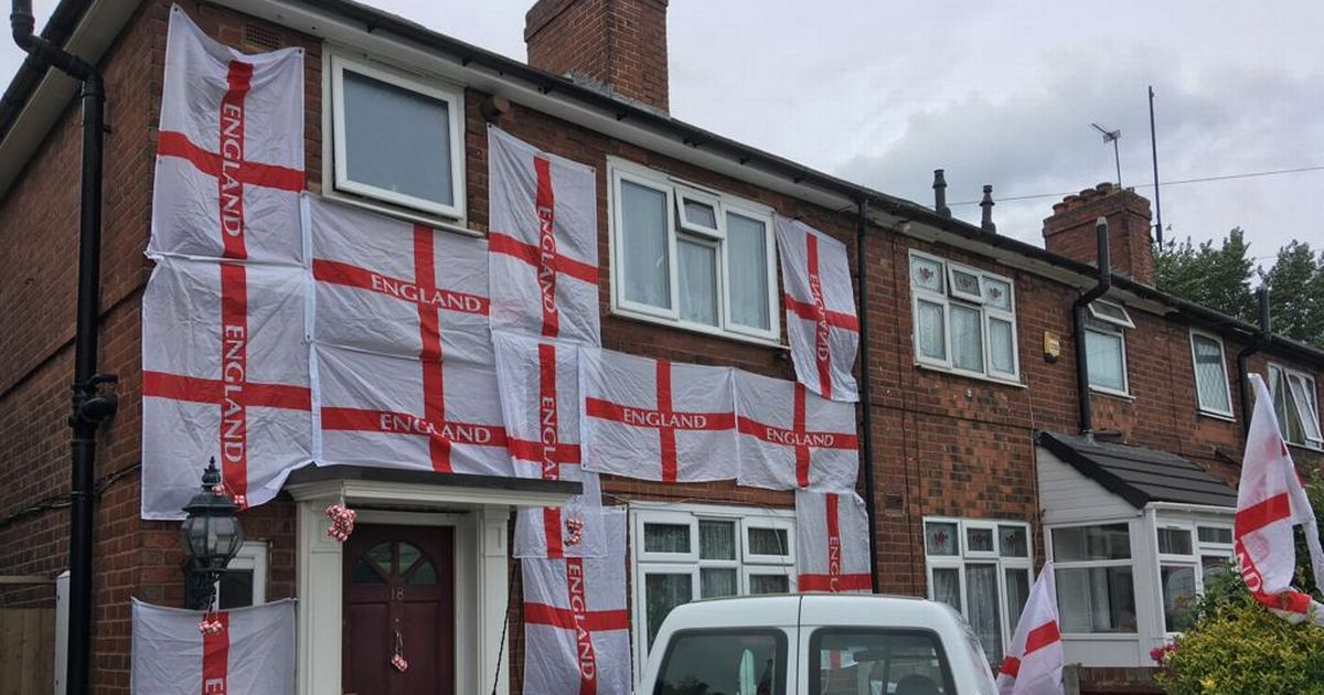 England fan 'threatened online' for covering home with St George's Crosses