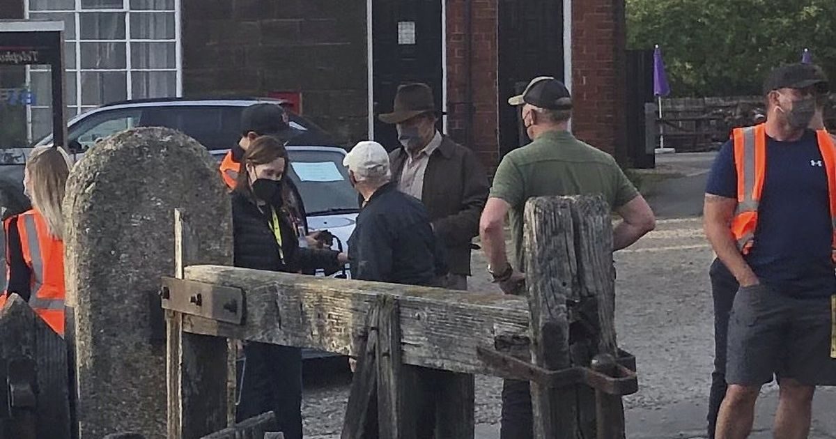 Harrison Ford spotted in village shooting scenes for new Indiana Jones