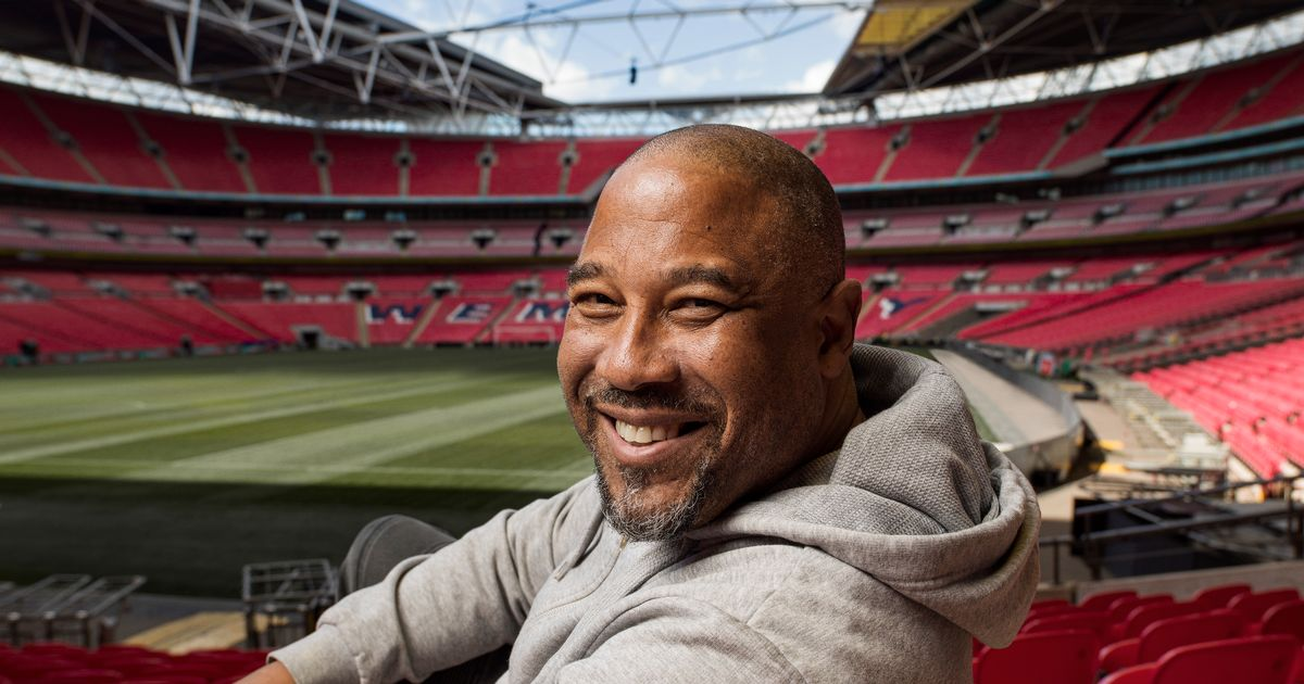 John Barnes back at his 'happy place' for portrait series