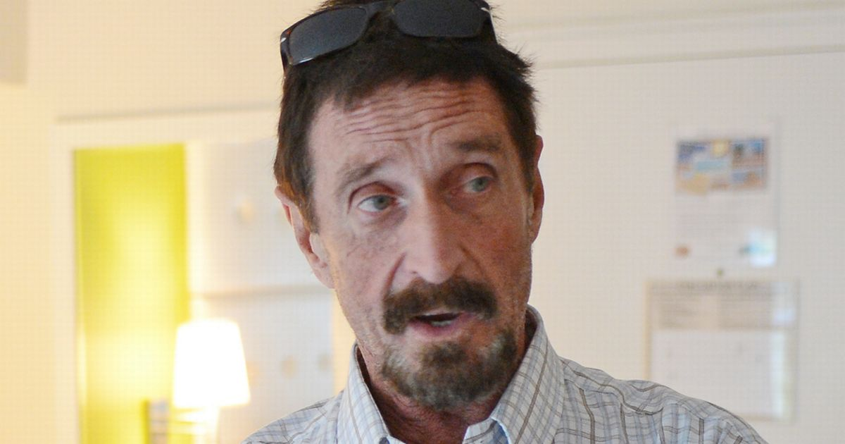 John McAfee's Instagram shares mysterious post minutes after death announced