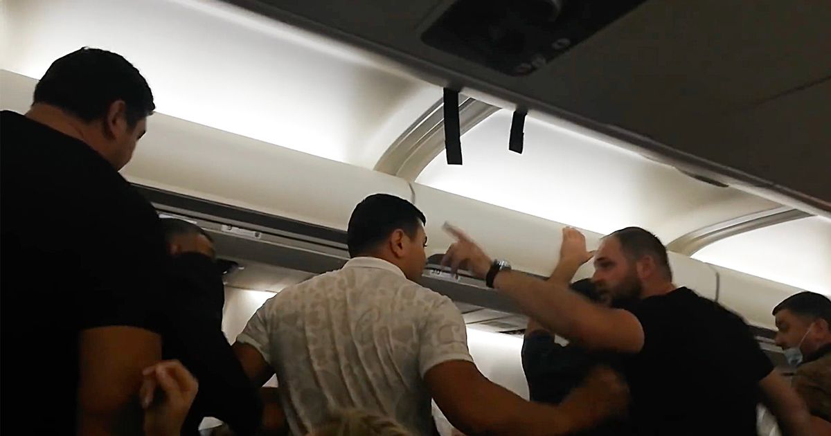 Mass brawl erupts mid-flight on airline banned by most European countries