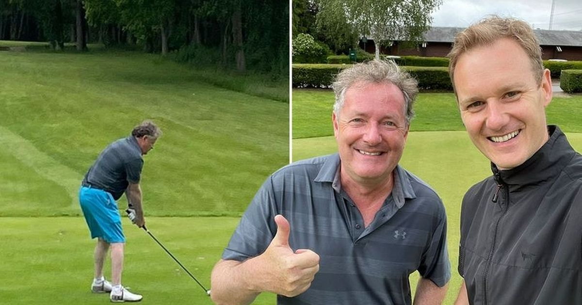 Piers Morgan and Dan Walker get cosy on the golf course after BBC joke