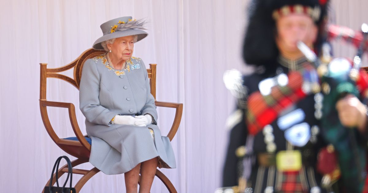 Queen celebrates birthday with military parade and Red Arrows